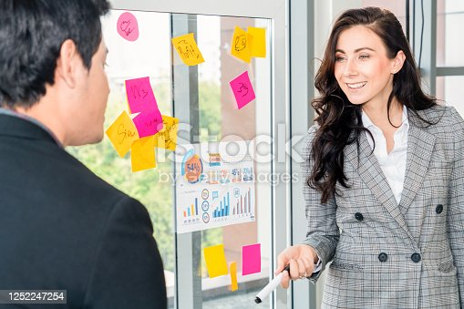 1059655118 istock photo Business people work on project planning board 1252247254
