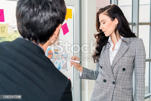 1059655118 istock photo Business people work on project planning board 1252247258