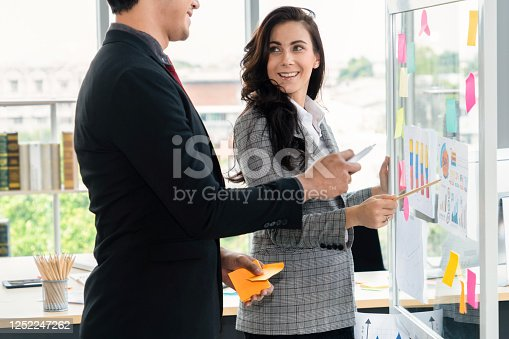 1059655118 istock photo Business people work on project planning board 1252247262