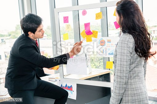 1059655118 istock photo Business people work on project planning board 1252247275