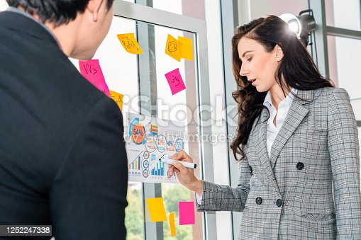 1059655118 istock photo Business people work on project planning board 1252247338