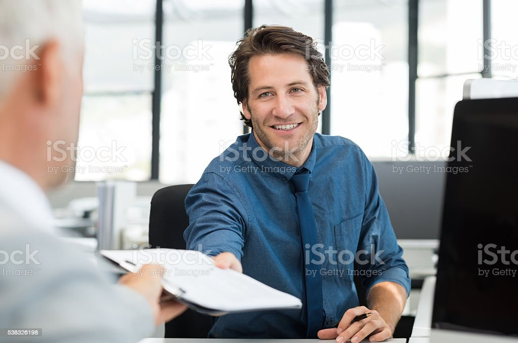 Business people work together stock photo