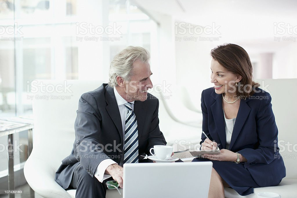 Business people working and drinking coffee stock photo