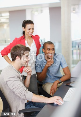 istock Business people working at computer in office 137087488