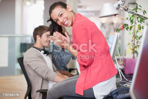 istock Business people working at computer in office 170153179