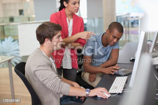 istock Business people working at computer in office 170153197
