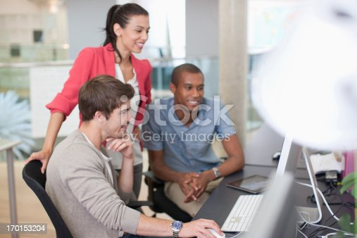 istock Business people working at computer in office 170153204