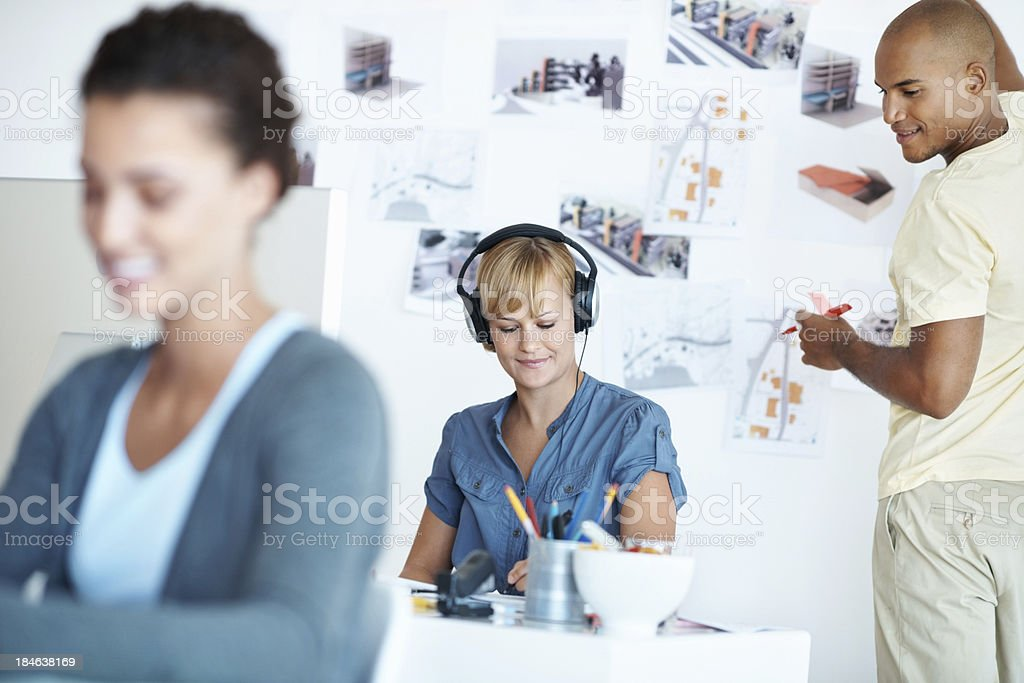 Business people working at office stock photo