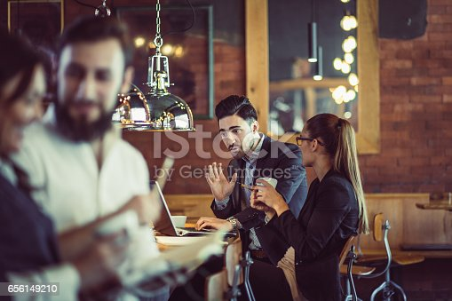 istock Business People Working at the Cafe Restaurant 656149210