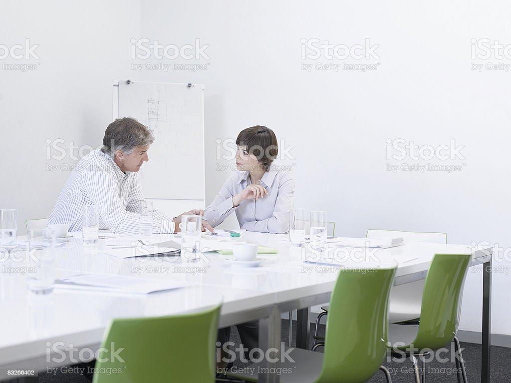 ビジネス人々の作業のコンファレンスルーム ロイヤリティフリーストックフォト