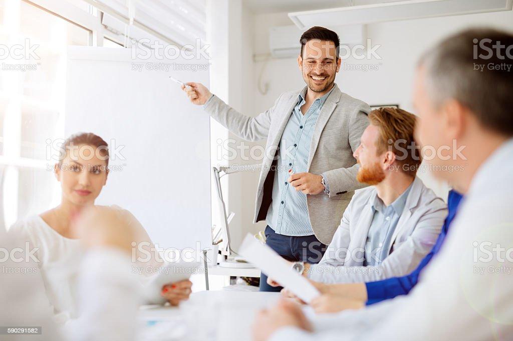 Business people working in office royaltyfri bildbanksbilder