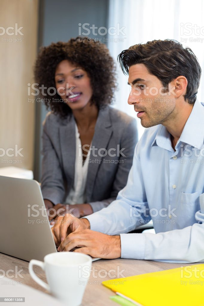 Business people working in office royalty-free stock photo