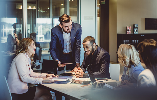 Business People Working In The Office Stock Photo - Download Image Now
