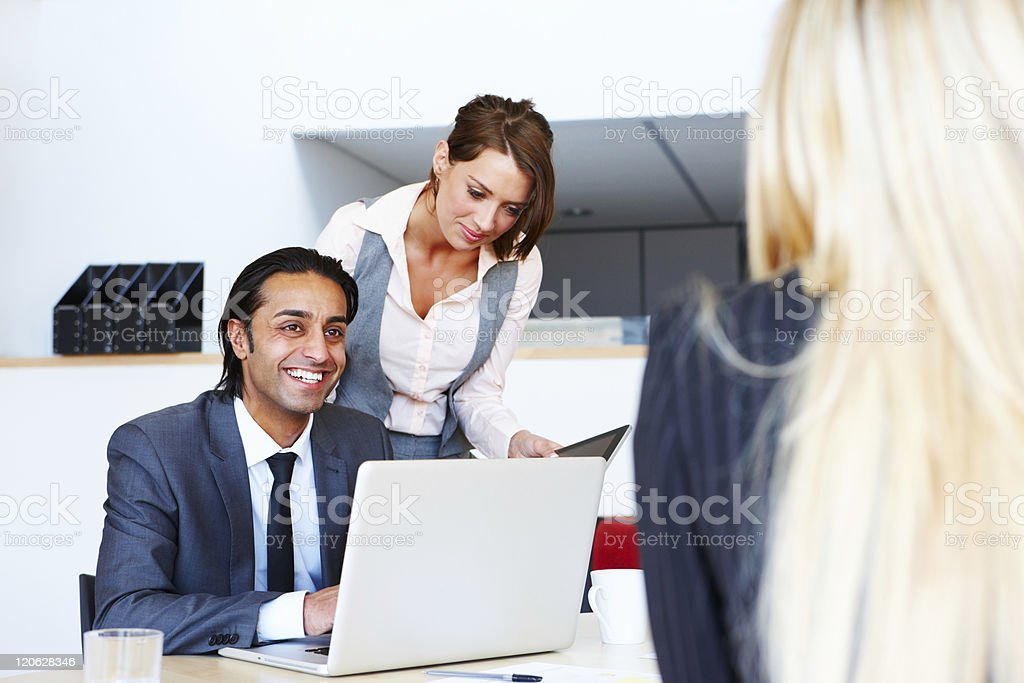 Business People Working in the Office royalty-free stock photo