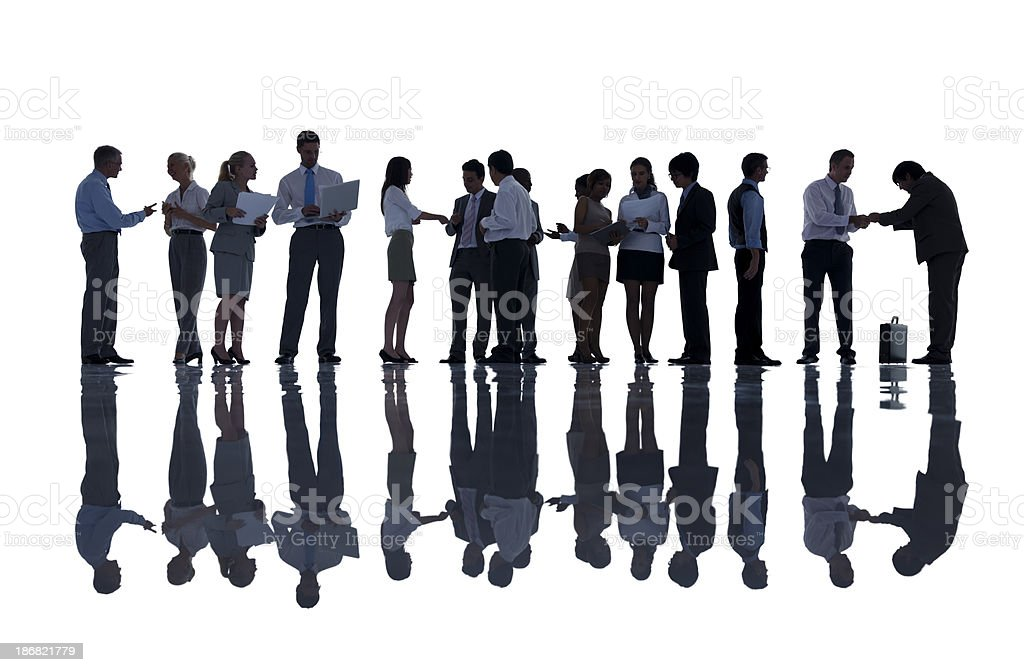Business People Working Silhouette. royalty-free stock photo