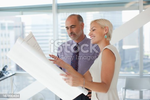 istock Business people working together in office 167890434