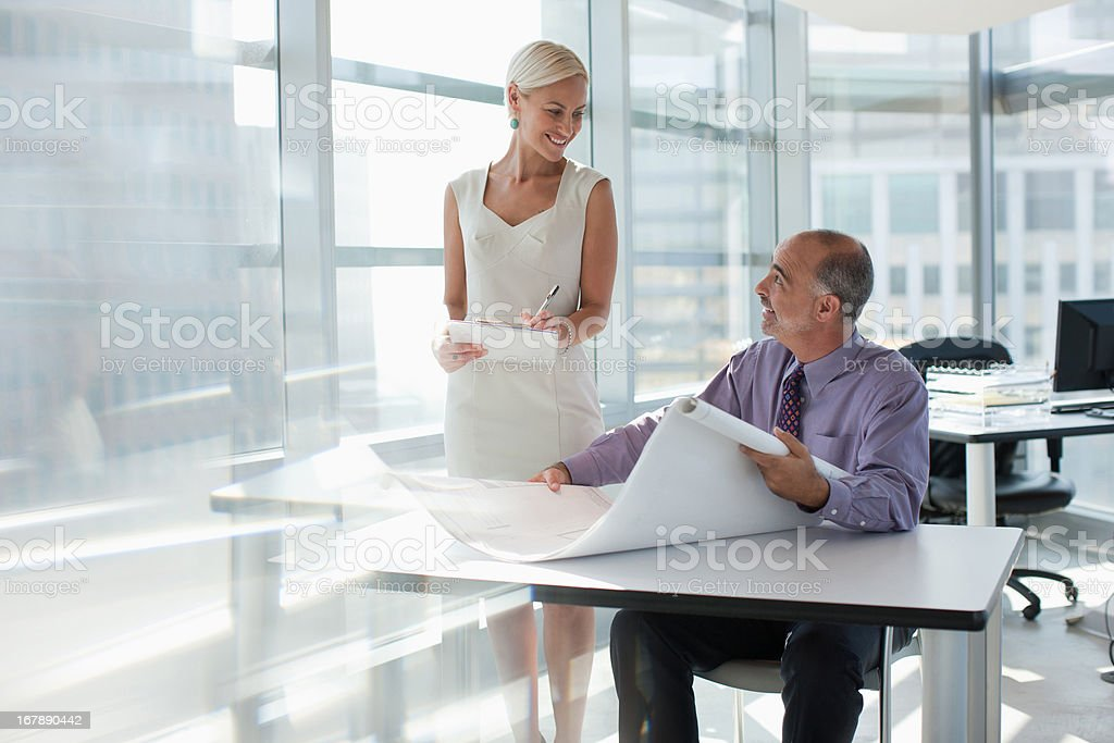 Business people working together in office royalty-free stock photo