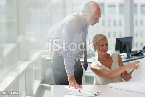 istock Business people working together in office 167890451