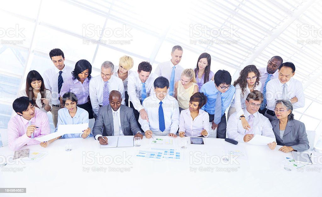Business People Working Together Stockfoto En Meer Beelden Van Aan
