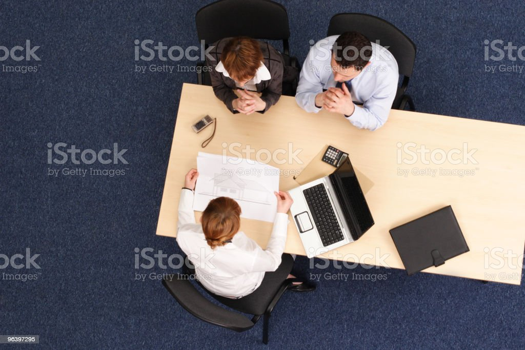 business people working with project - Royalty-free Above Stock Photo