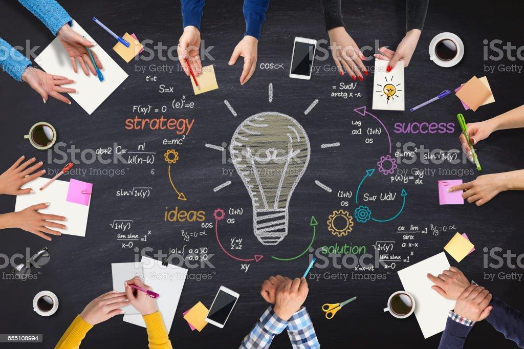 Business-Völker neue Ideen Tagung am Tisch - Lizenzfrei Arbeiten Stock-Foto
