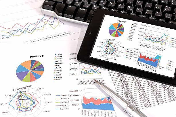 Business performance analysis. stock photo