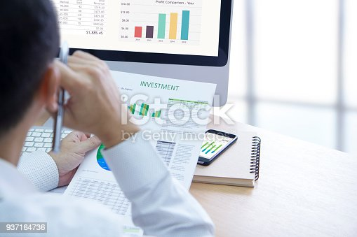 istock Business Performance and Investment Risk Analysis 937164736