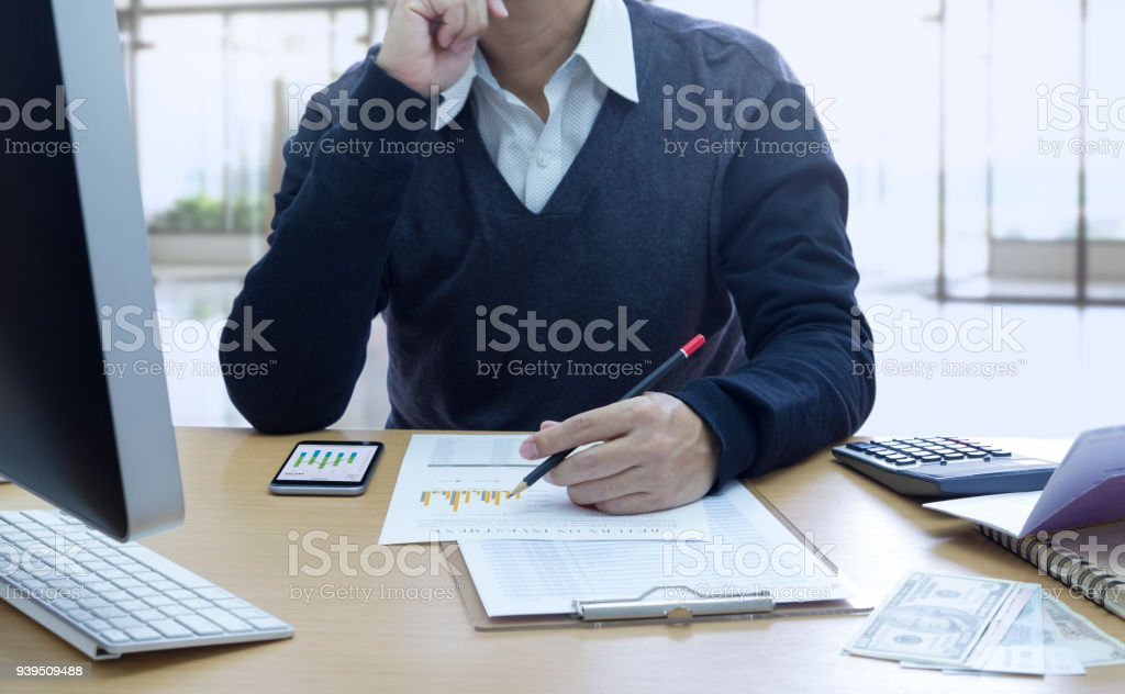 Business Performance and Investment Risk Analysis stock photo