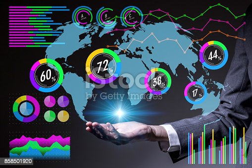 1079974636 istock photo business person and information technology concept. abstract mixed media. 858501920