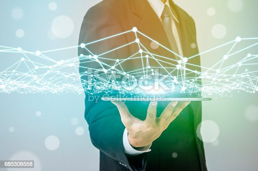 istock business person and mesh network concept 685306558