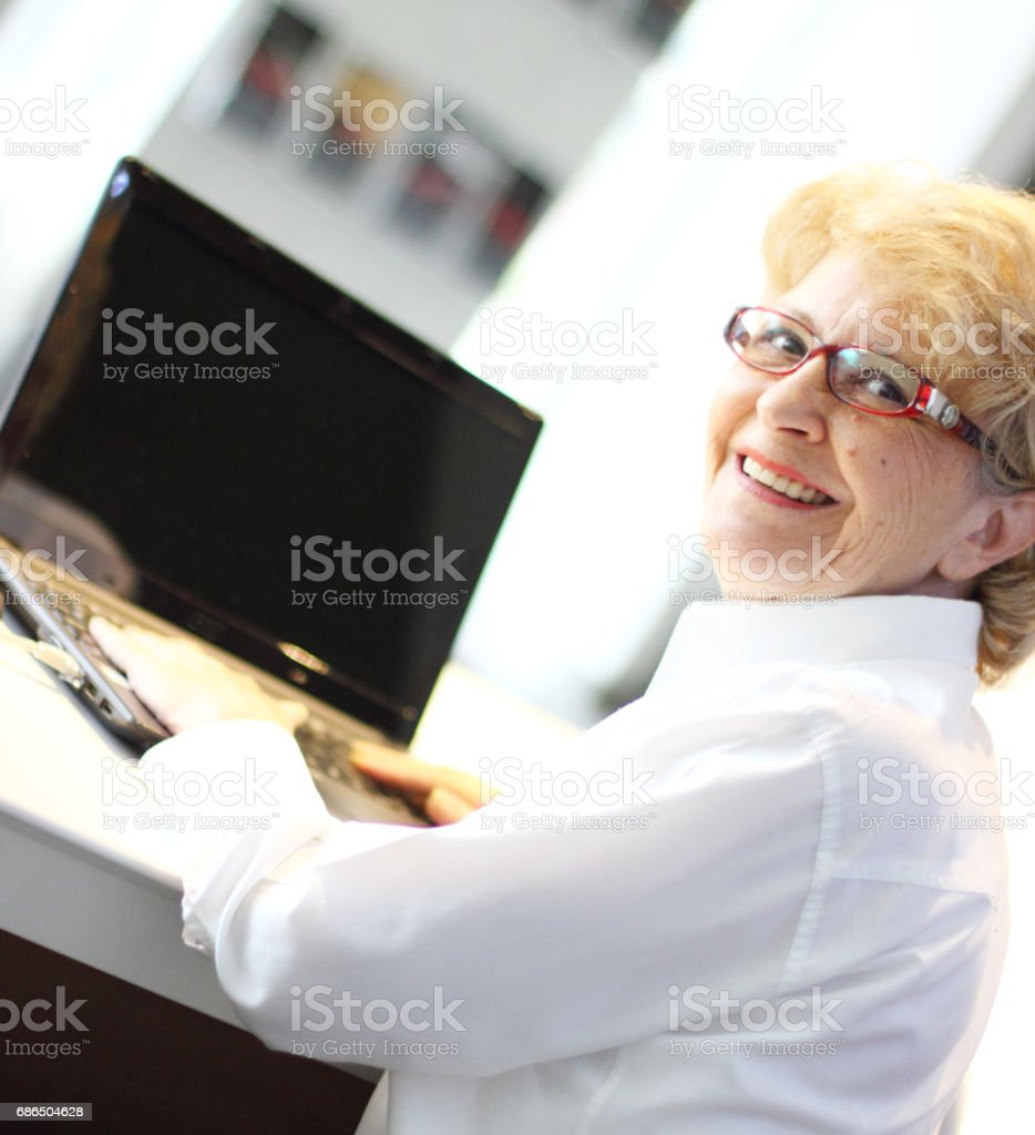 Business person at the office stock photo