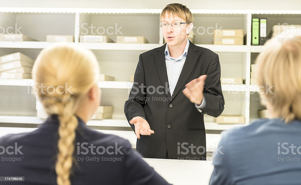 Business person at the presentation applauding royalty-free stock photo