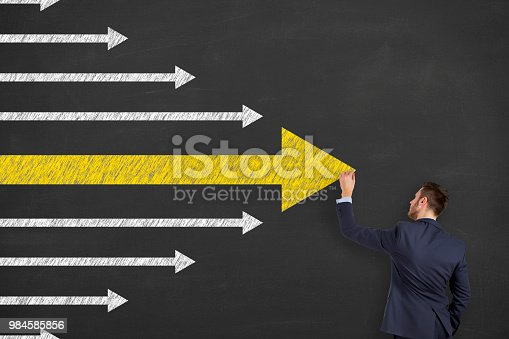 istock Business Person Drawing Leadership Concepts 984585856