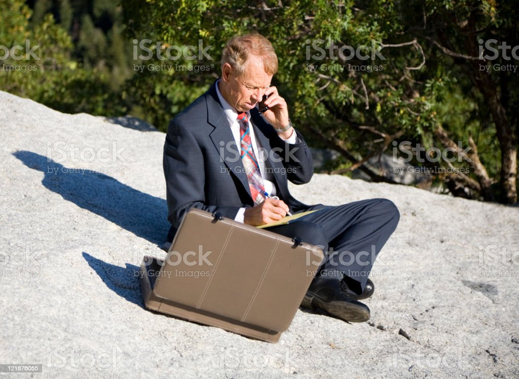 Business Person in Wilderness Area royalty-free stock photo