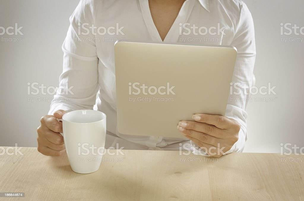 Business person using tablet pc royalty-free stock photo