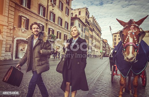 istock Business person walking at Piazza di Spagna in Rome 489254806