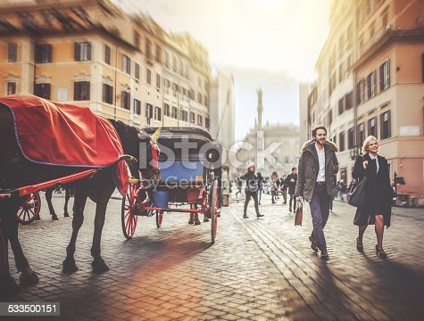 istock Business person walking at Piazza di Spagna in Rome 533500151