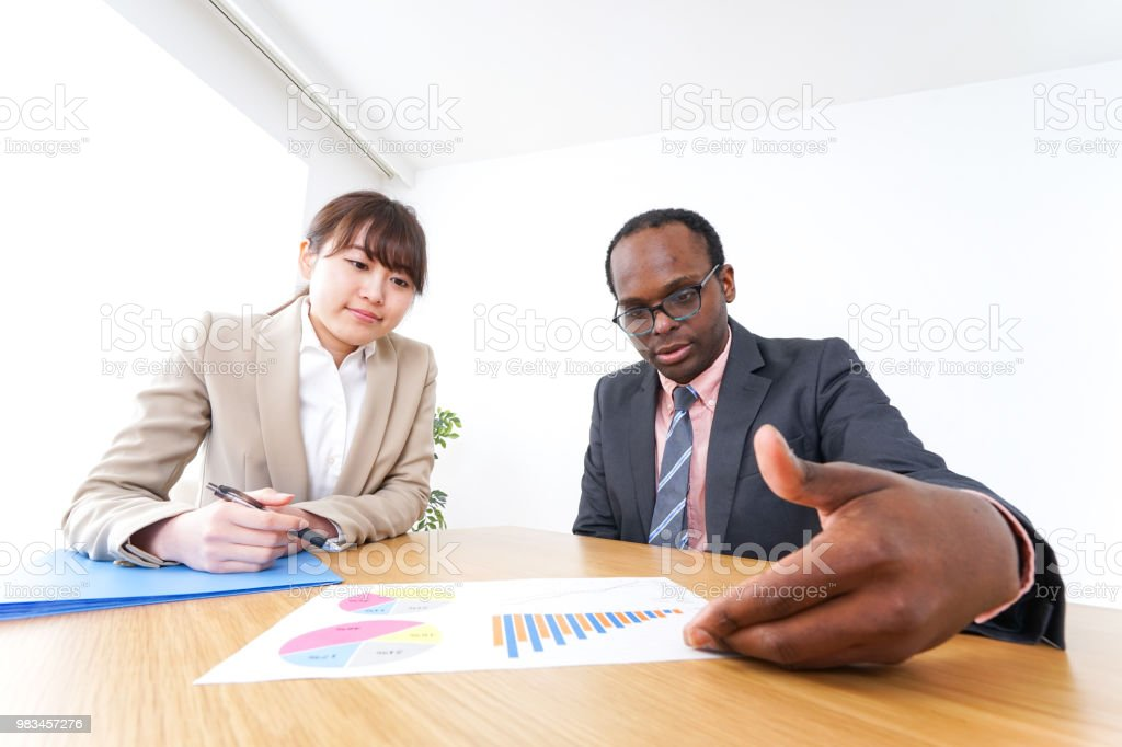 business persons in clean office