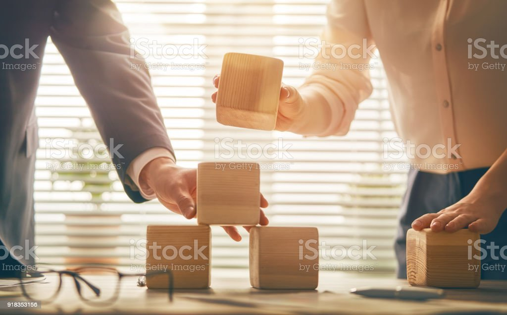 business persons plan a project stock photo