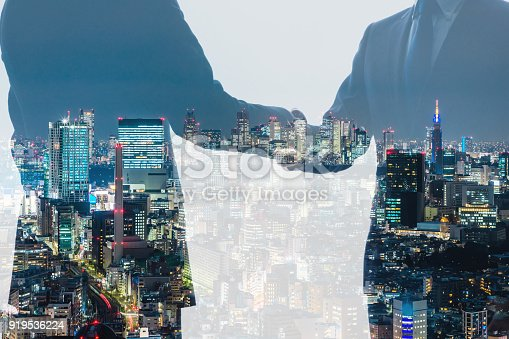 istock Business persons shaking hands. Businesspartnership concept. 919536224