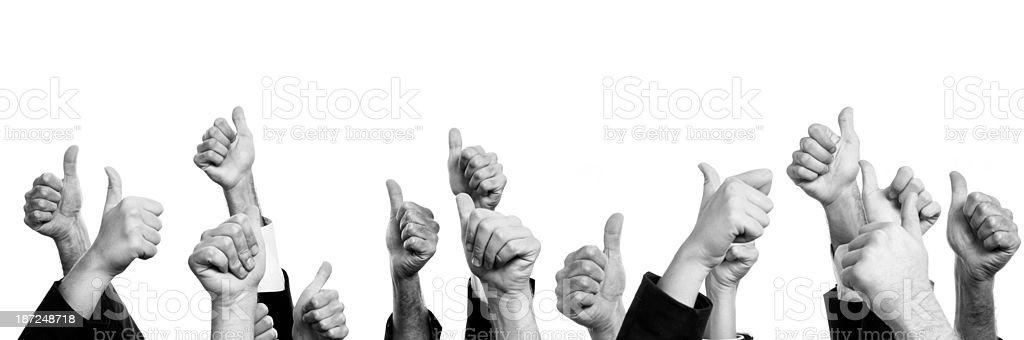Business Persons Thumbs Up.Isolated. royalty-free stock photo