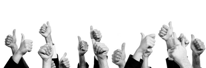 888892364 istock photo Business Persons Thumbs Up.Isolated. 187248718