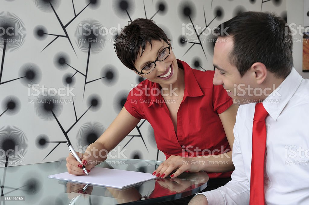 Business persons working together royalty-free stock photo
