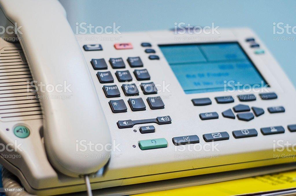 PBX business phone close up stock photo