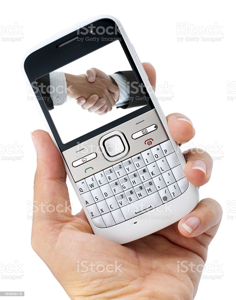 Business phone royalty-free stock photo