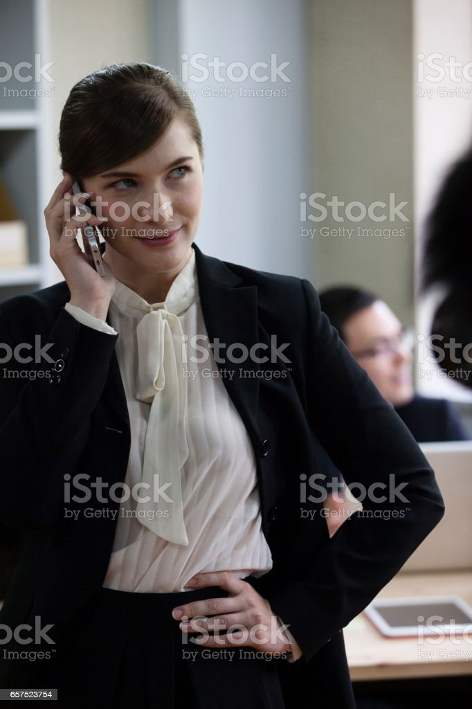 Business phone stock photo