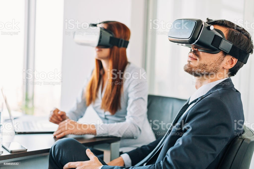 VR business stock photo