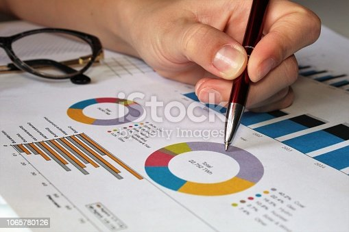 istock Business pie chart. 1065780126