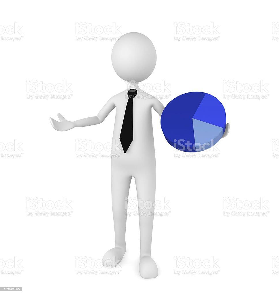 Diagramme d'affaires photo libre de droits