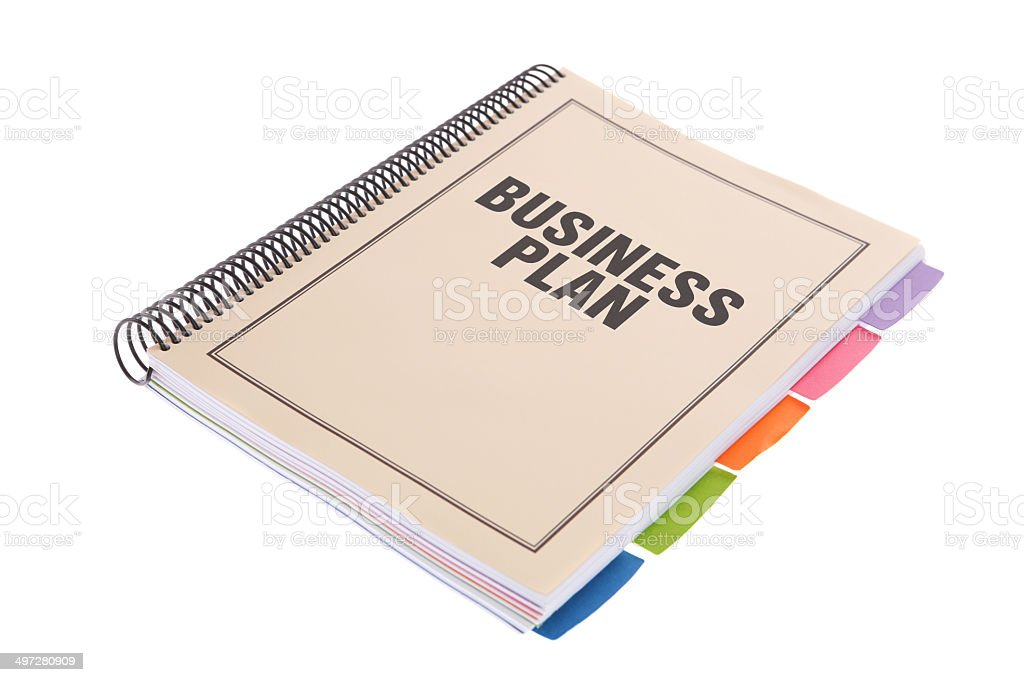 business plan bound paperwork document on white stock photo more